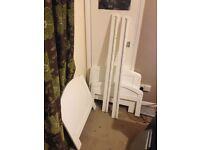 Toddler bed white wood so can be painted 30.00 each there is 2 slight difference though
