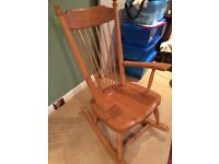 Light pine excellent condition rocking chair