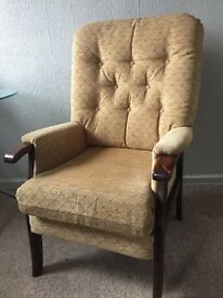 Tall Fabric Armchair
