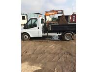 2006 transit tipper with crane/hiab