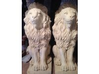 """A pair of proud lions 17"""" tall £30"""