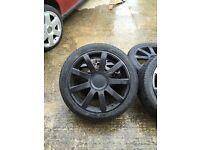 5x100 5x112 19 alloy wheels new tyres x4
