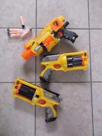 3 NERF Blasters £10 each