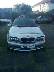 SPARES/REPAIRS. BMW 3SERIES. 2L PETROL. £600 ONO