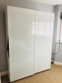 Ikea white gloss bedroom cupboard