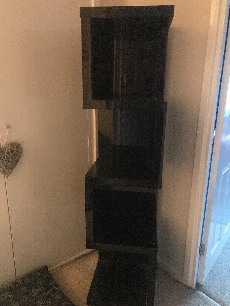 Next Black Gloss Corner Shelving Unit In Tavistock Devon Gumtree