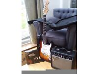 Fender guitar and amp
