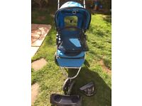 A PUPPY DOG OR CAT PUSHCHAIR TRAVEL STROLLER JOGGER IN GREAT CONDITION HARDLY USED