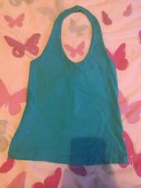 Turquoise halterneck top Size 10/12