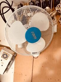 "Cheshunt Hydroponics Store - used Ram 16"" wall mounted oscillating fan"