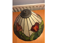 Christopher Wray coloured glass ceiling lampshade with fittings
