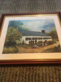 GLASS FRAMED PICTURE OF THE OLD SCHOOL HOUSE, KELLS - BIRTHPLACE OF 1859 REVIVAL - £20 - BANGOR AREA