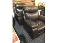 New recliner -leather armchair