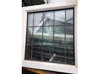 12 leaded double glazed windows