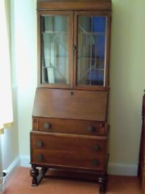 Bureau with Display Cabinet