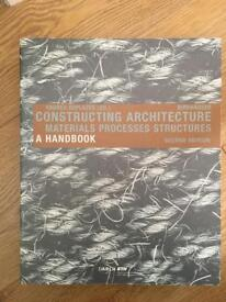 Architectural book - constructing architecture