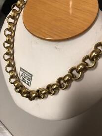9ct gold hallmarked belcher chain
