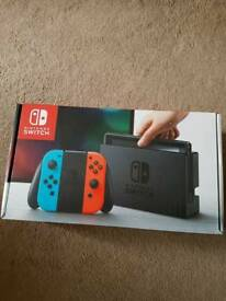 Nintendo switch new in box unused