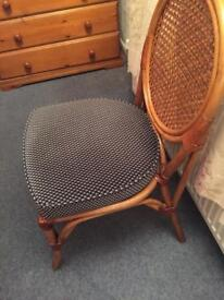 Dining room chairs cane and Dralon seats very clean and comfies
