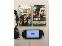 Psp 3000 series slim and light Plus 2 games mint condition