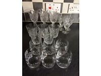 Crystal Glasses - 22 mixed