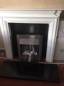 Electric fire and fireplace great condition