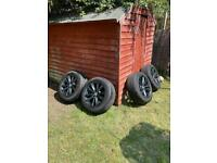 Genuine BMW 5 series 17 inch Alloy wheels with tyres in mint condition