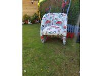 Bespoke tub chair.feature chair. Bedroom chair