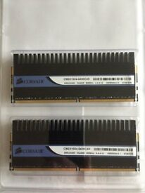 Corsair XMS2 Dominator 2GB Kit (2 x 1GB) 240-Pin DDR2 SDRAM Memory Modules