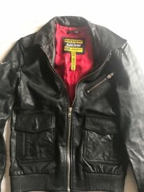 Superdry's leather jacket