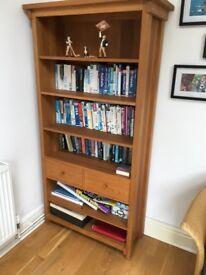 Solid Oak book case/display unit