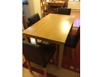 Dining Table 120cm and 4 chairs