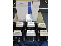 Samsung iDCS 100 business phone system with 6 handsets