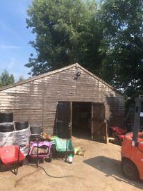 Wooden Garage/Storage Shed 9x7.45m FREE