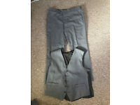 Jeff Banks Dry Clean Grey Trousers and Waistcoat