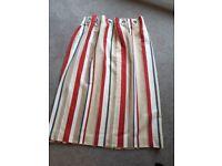 Laura Ashley eyelet curtains L117 x W188cm red beige cream navy