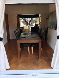 Delightful Next Solid Wood Dining Table Chairs