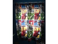 Avengers curtains and lampshade