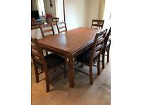 Rustic Pine 6Seater Table and Chairs