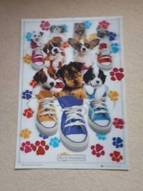 3D puppy Poster
