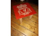 Pair of CNC engraved tables / Liverpool FC + Adidas