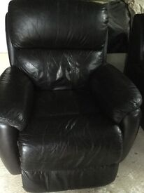 Two leather armchairs for sale,lovely condition,new sofas hence the sale