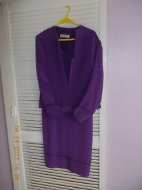 Jacques Vert dress and jacket. 100% silk. size 12. £60