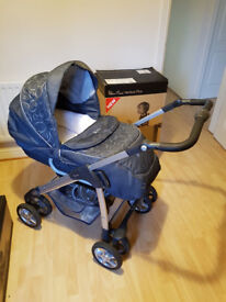 Silver Cross Linear Freeway (Pram and Buggy) + Silver Cross Car Seat + Silver Cross Isofix Base