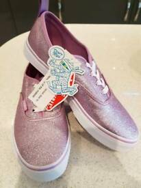 Vans glitter metallic shoes size 5 women trainers