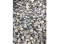 20mm multi mix river gravel driveway/garden chips