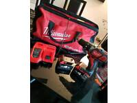 Milwaukee 18v fuel cordless drill and hammer 2x 4.0ah batterys plus