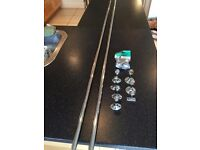 2 x 19mm - 6 foot chrome silver hanging rails with wall brackets from Rothley Colorail Brackets