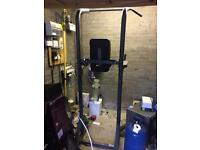 Gym equipment - leg raises, dips and pull up station