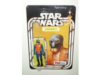 VINTAGE STAR WARS/EMPIRE STRIKES BACK/RETURN OF THE JEDI/WALRUS MAN ON PALITOY 20 BACK REPRO CARD.